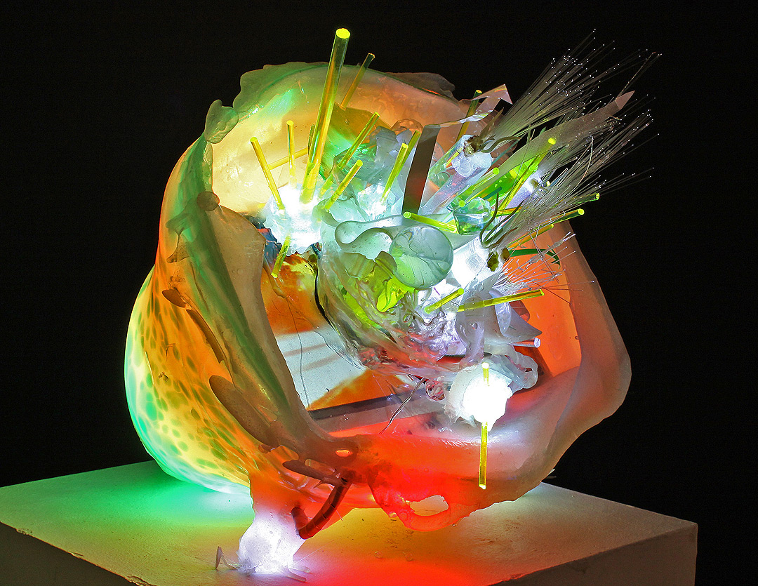 ColoredGlassVideoSculpture